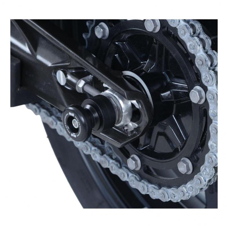 Diabolos de bras oscillant R&G Racing noir sur axe Ducati 959 Panigale 16-18