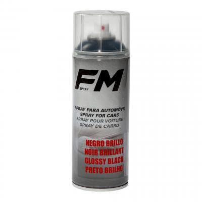 Bombe de peinture acrylique FM Spray noir brillant 400ml