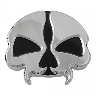 Bouchon de réservoir Drag Specialties ventilé tête de mort chrome