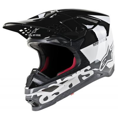 Casque cross Alpinestars Supertech S-M8 Radium blanc/noir/gris
