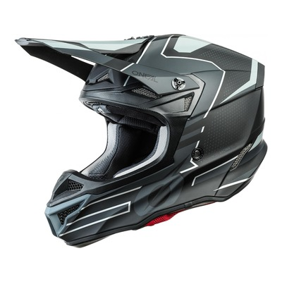 Casque cross O'Neal 5SRS Polyacrylite Sleek noir/gris