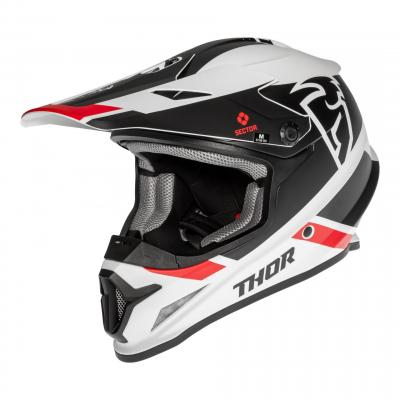 Casque cross Thor Sector Split Mips blanc/noir