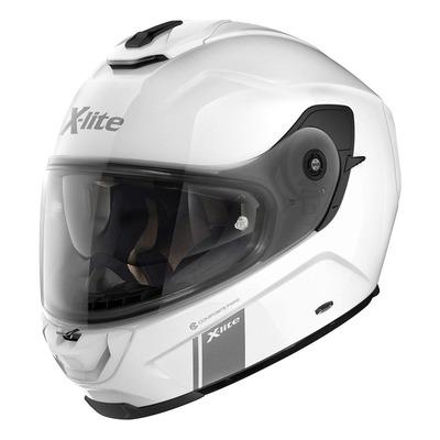 Casque intégral X-Lite X903 Moder Class N-Com Métal blanc (boucle double D)