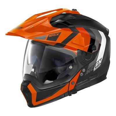 Casque trail transformable Nolan N70-2 X Decurio N-Com Mat noir/orange