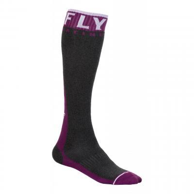 Chaussettes Fly Racing MX Pro Socks Thick bordeaux/gris foncé