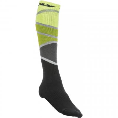 Chaussettes Fly Racing MX Pro Thick jaune/vert/noir