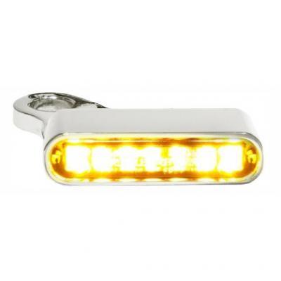 Clignotants de guidon Heinz Bikes LED chromé/ambre Harley Davidson XL1200X Forty-Eight 14-19