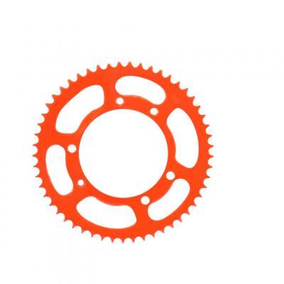 Couronne 53 dents pas 420 Derbi Senda / Peugeot XP6 / Mbk X-limit orange