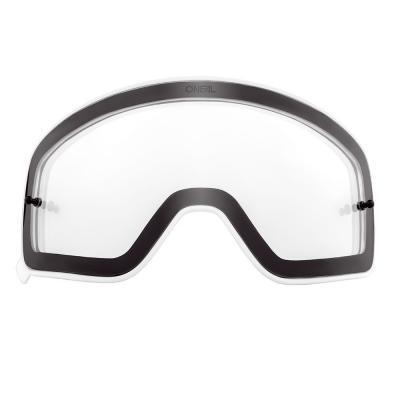 Écran O'Neal pour masque B 50 clair avec cadre blanc