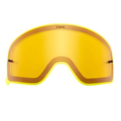 Écran O'Neal pour masque B 50 jaune avec cadre jaune