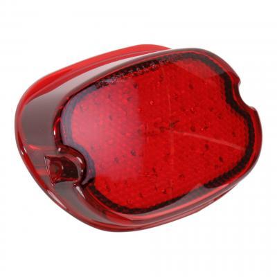 Feu arrière Drag Specialties Low-profile sans éclairage de Harley Davidson 99-19 Rouge