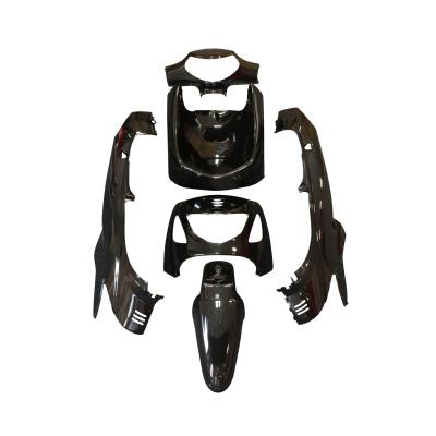 Kit carrosserie 6 pièces noir brillant adaptable Honda 125 sh