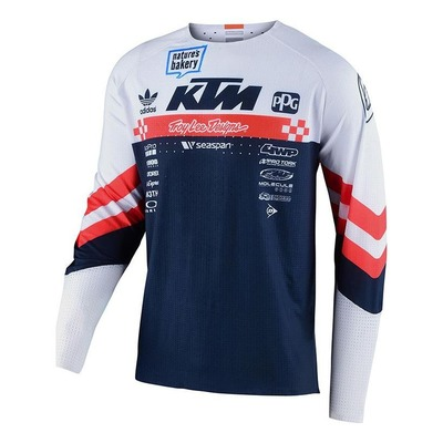 Maillot cross Troy Lee Designs SE Ultra Factory Team blanc/orange