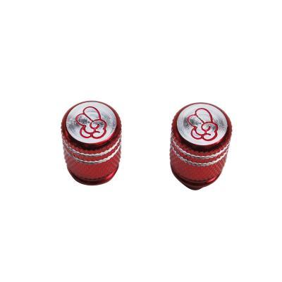 Paire de bouchons de valve Vicma to cool molette rouge