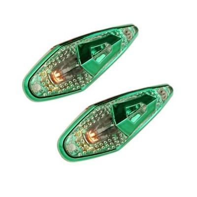 Paire de Feux Décoratifs Tun'R Goutte D'eau Futur Transparent/Vert