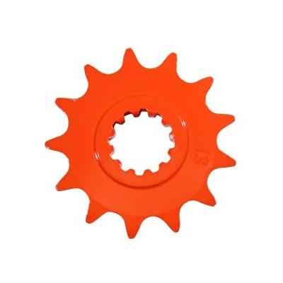 Pignon 14 dents pas 420 Derbi Senda / GPR / Gilera GSM 1999- orange