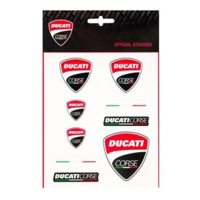 PLanche d'autocollant Ducati Corse noir/rouge (medium)