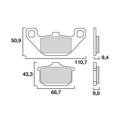 Plaquettes de frein Brembo carbone-céramique 07KA0808