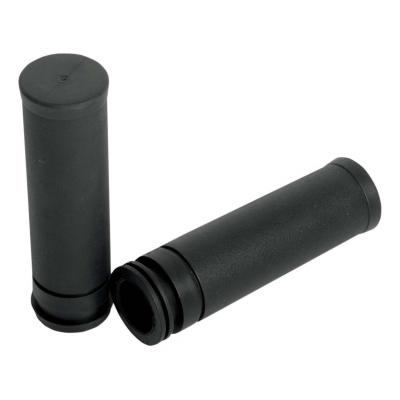 Poignées Drag Specialties type origine tirage à câble Electra-Glide 08-20 caoutchouc noir