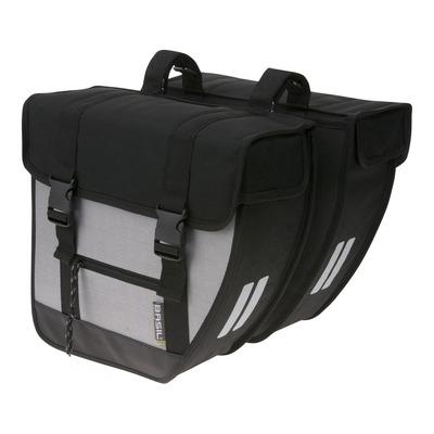 Sacoches latérales arrière vélo Basil Tour XL 40 Litres noir/argent