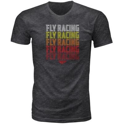 Tee-shirt Fly Racing Nostalgia gris foncé chiné