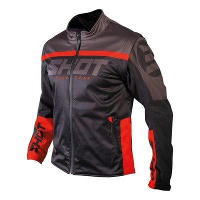 Veste enduro Shot Softshell Lite 2.0 noir/rouge