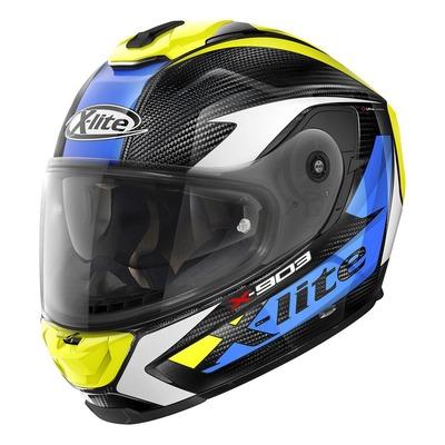 Casque intégral X-Lite X903 Ultra Carbon Nobiles N-Com bleu/jaune/carbone