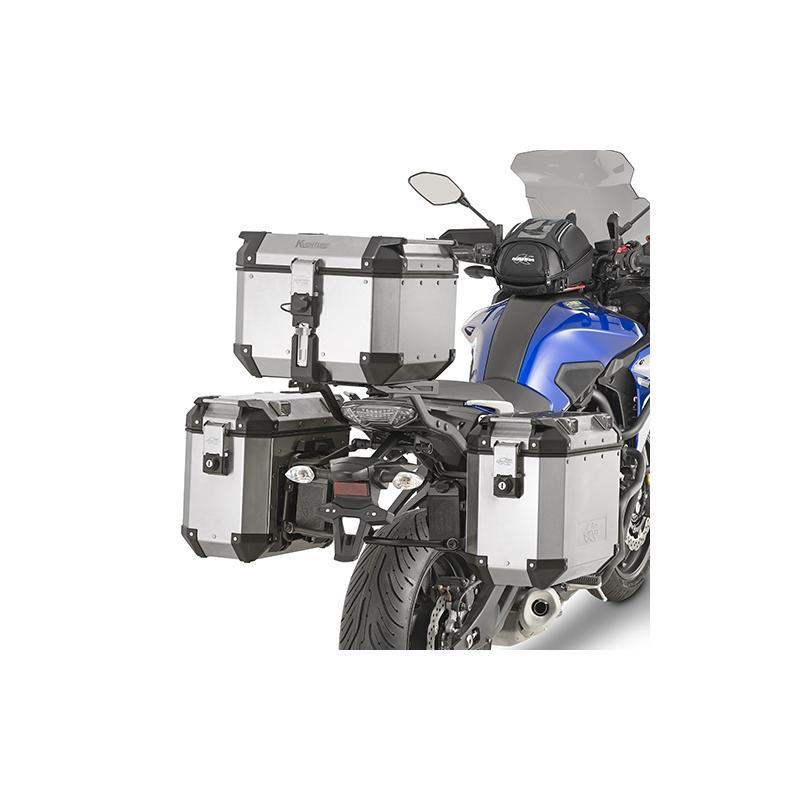 Supports pour valises latérales à liaison rapide type KLR Kappa Monokey Yamaha MT-07 Tracer 16-18