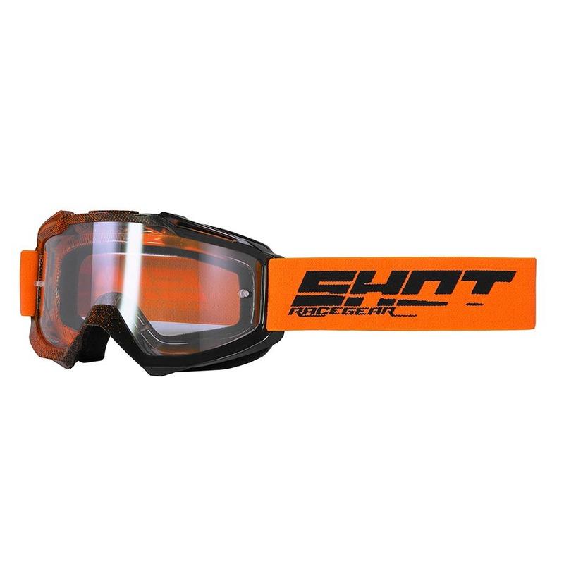 Masque cross Shot Assault Elite brillant orange/noir