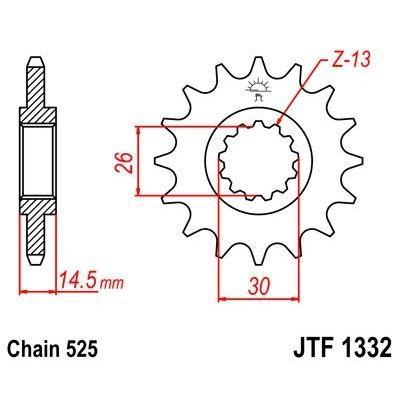 Pignon JT Sprockets Acier pas 525 15 dents - Pour Honda CB 750 F 92-03