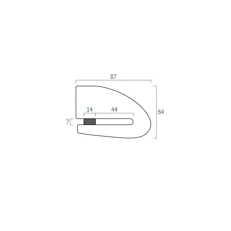 Antivol bloque disque connecté avec alarme Xena XX14 Bluetooth SRA - 1