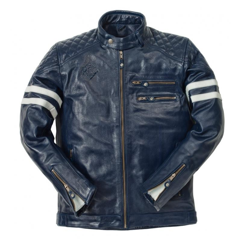 Blouson cuir Ride And Sons MAGNIFICENT Buffalo Skin Forest vert