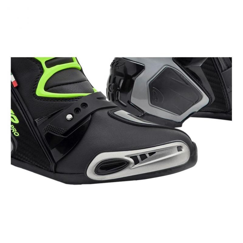Bottes cuir racing Forma ICE Pro noir/gris/jaune fluo - 1
