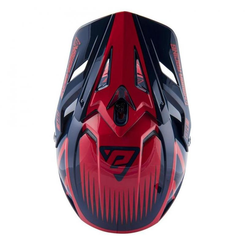 Casque cross Answer AR1 Edge midnight/bright red - 3