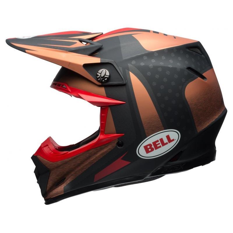 Casque cross Bell Moto 9 Flex Matte copper/black vice - 4