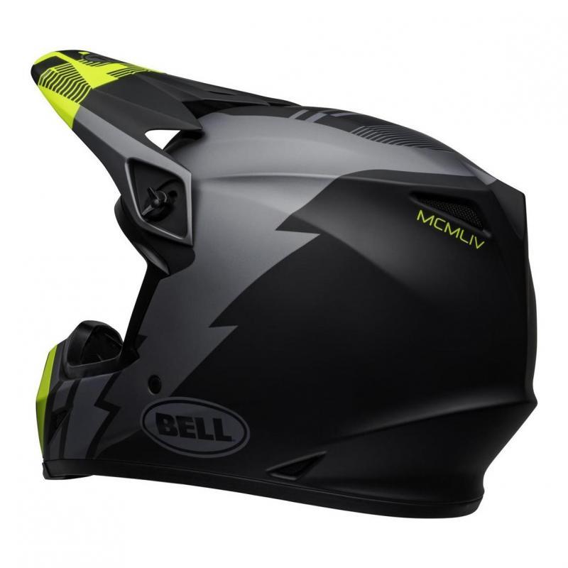 Casque cross Bell MX-9 Mips Strike mat gris/noir/jaune fluo - 1