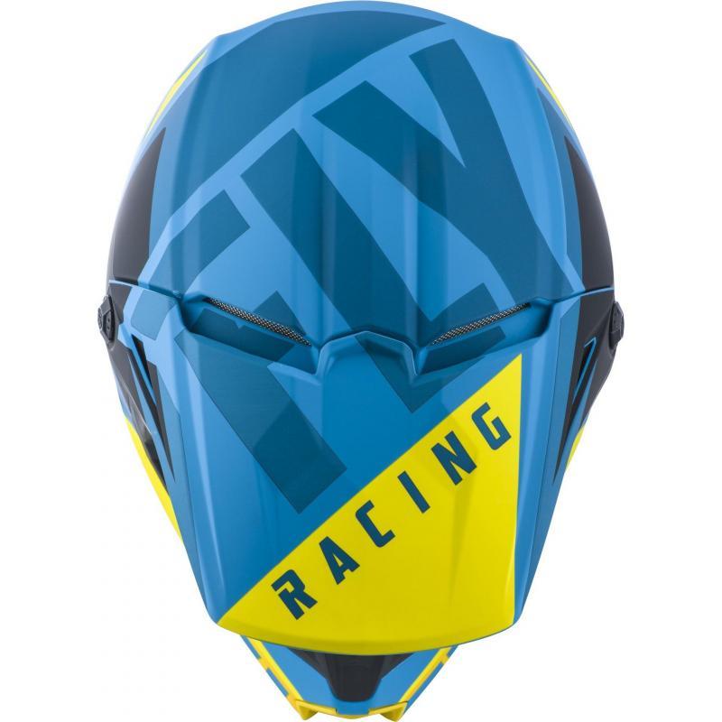 Casque cross Fly Racing Elite Vigilant bleu/jaune/noir - 2
