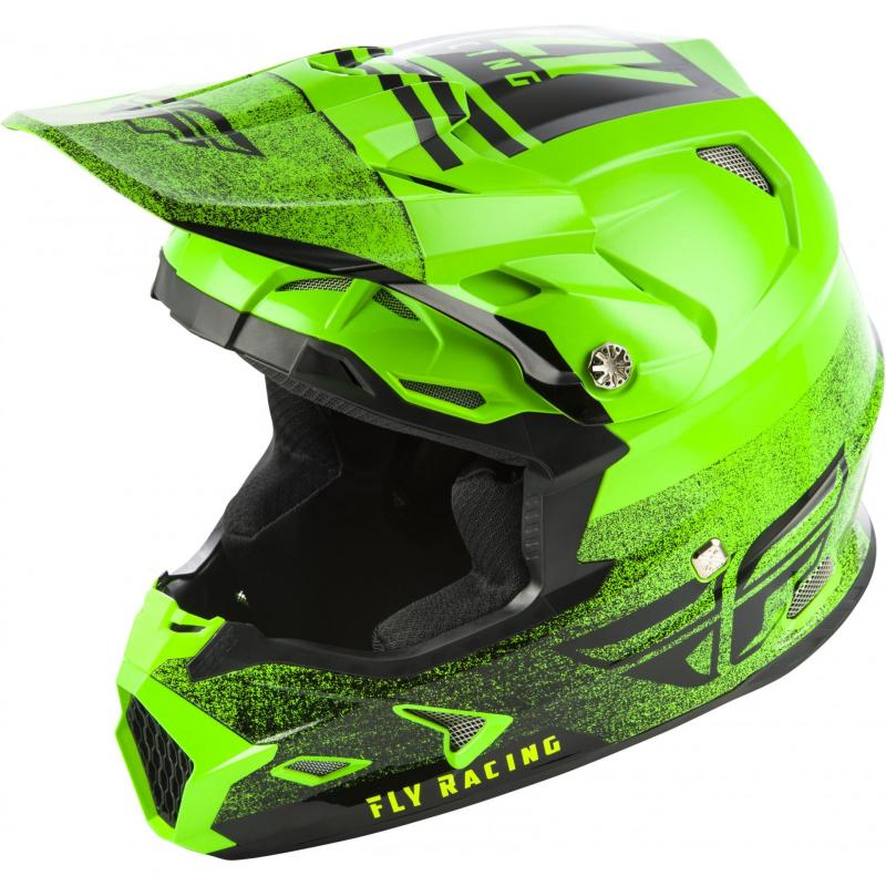 Casque cross Fly Racing Toxin Mips Embargo vert/noir