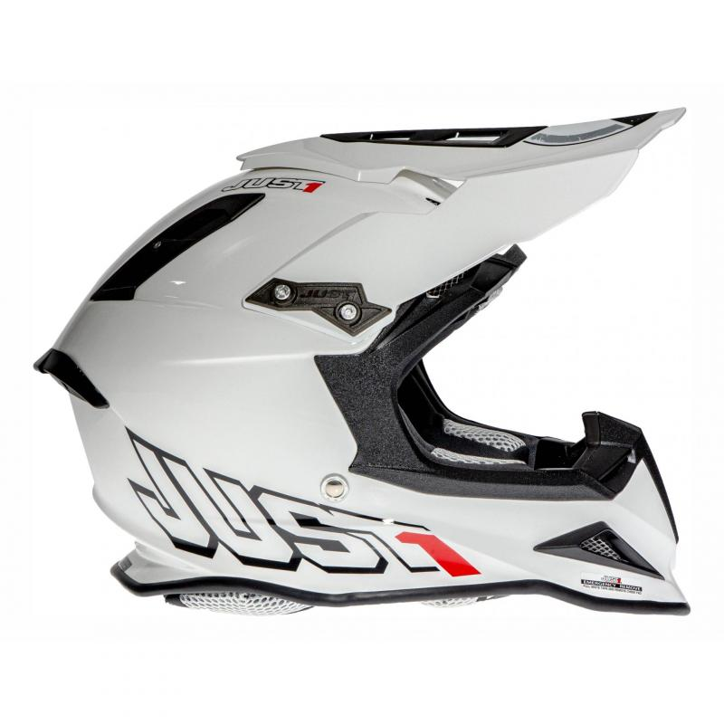 Casque cross Just1 J12 Solid blanc - 2
