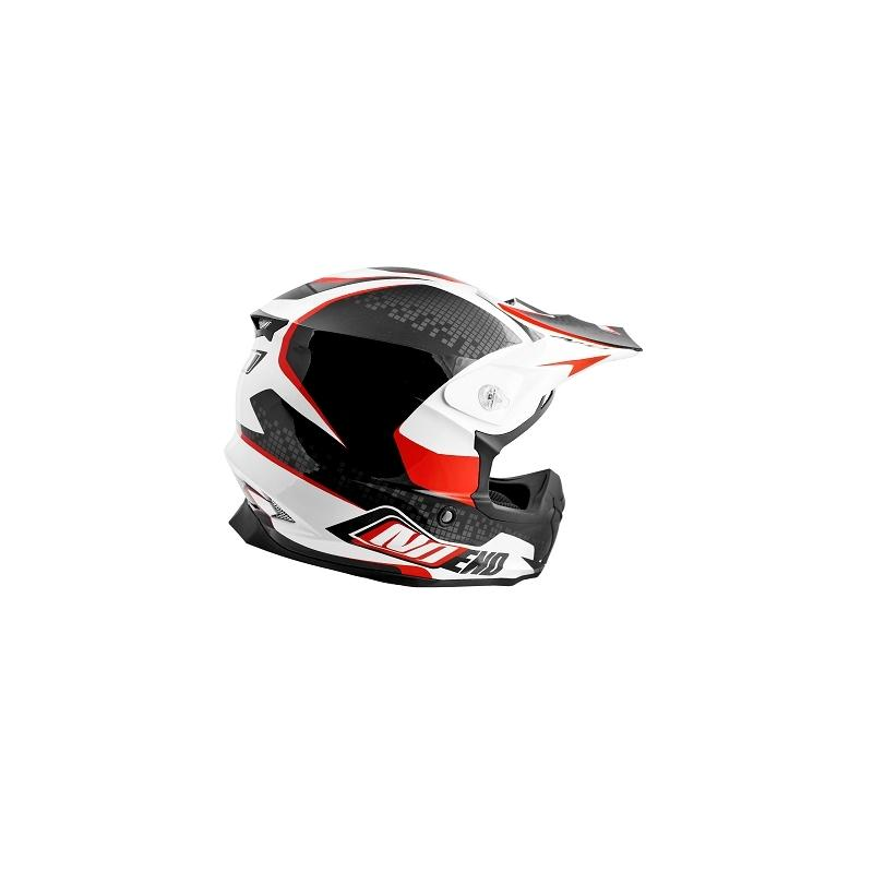 Casque cross Noend Defcon By OCD TX696 blanc/rouge - 1