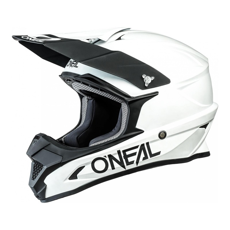 Casque cross O'Neal 1SRS Solid blanc