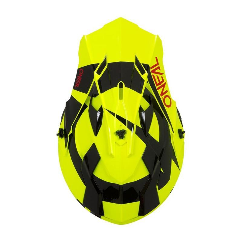 Casque cross O'Neal 2SRS RL Slick jaune fluo/noir - 2