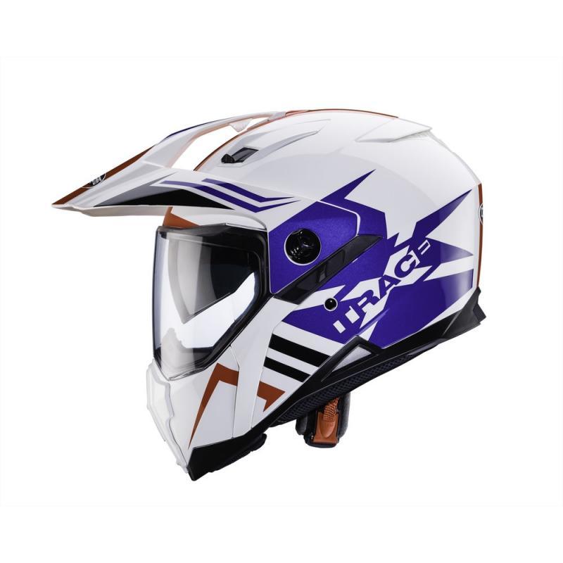 Casque intégral Caberg XTRACE LUX blanc/bleu/rouge - 2