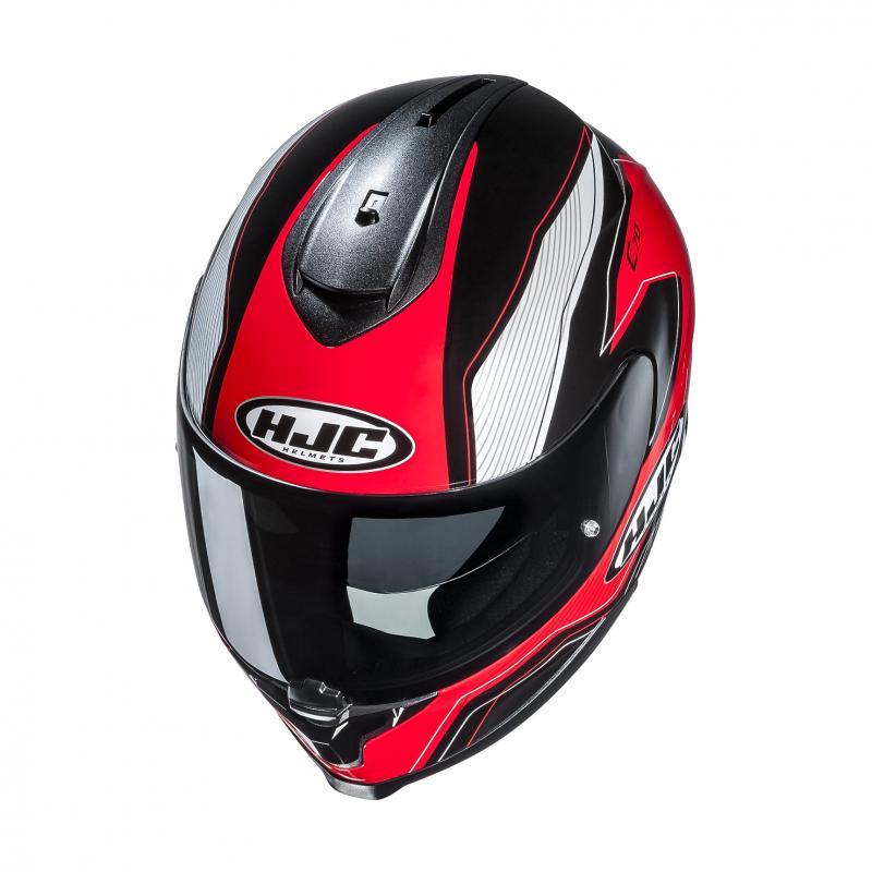 Casque intégral HJC C70 Lianto noir/rouge - 1