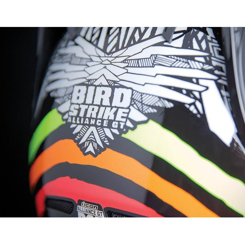Casque intégral Icon Alliance GT Bird Strike blanc/noir - 3