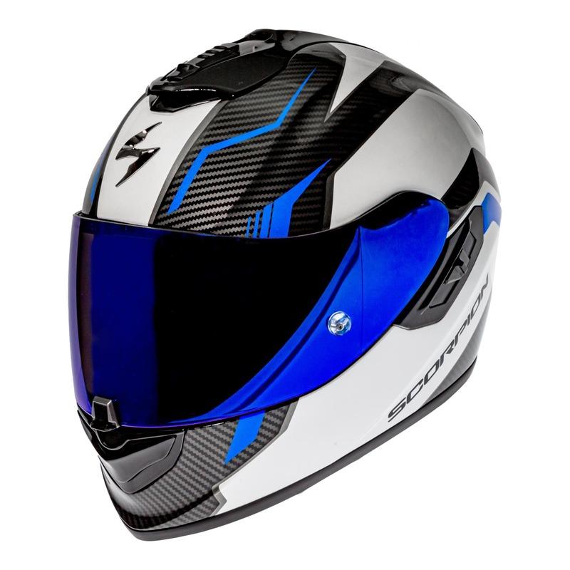 Casque intégral Scorpion EXO-1400 Air Fortuna blanc/bleu