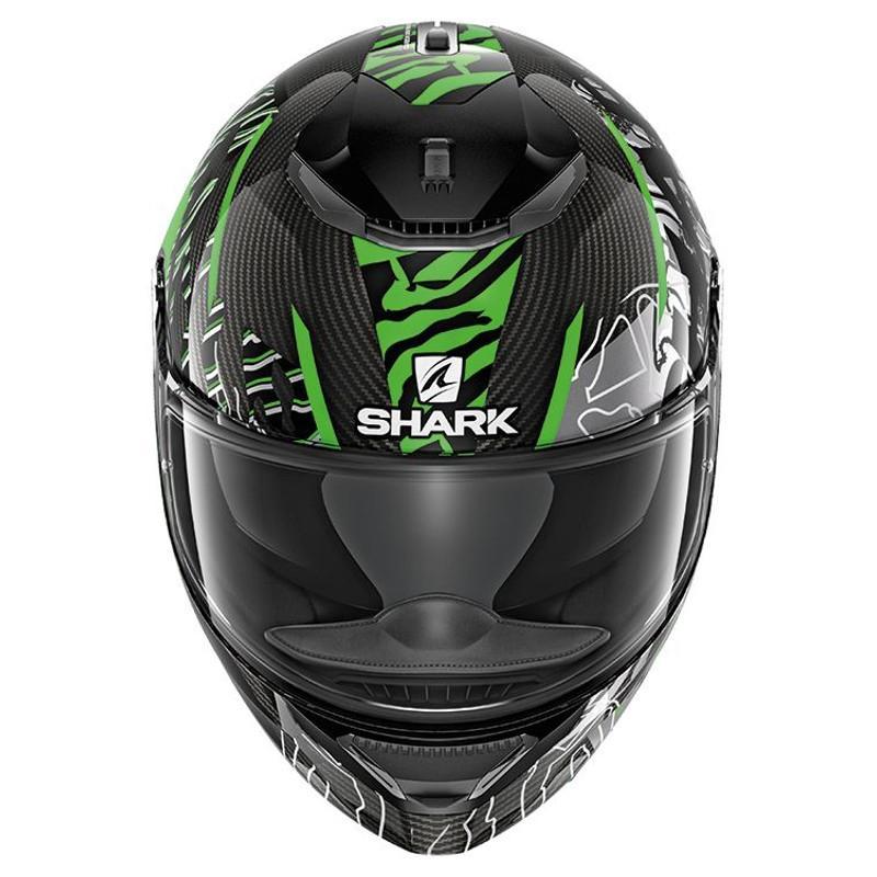 Casque intégral Shark SPARTAN CARBON DAKSHA carbone/vert/noir - 2
