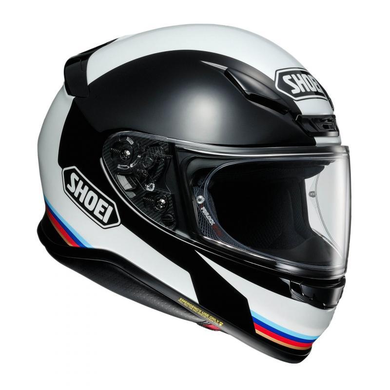 Casque intégral Shoei NXR Recounter blanc/noir/rouge/bleu - 1