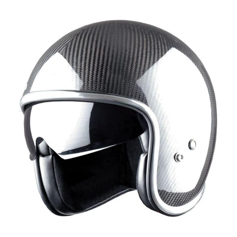 Casque jet Astone VINTAGE graphic carbone/noir - 1