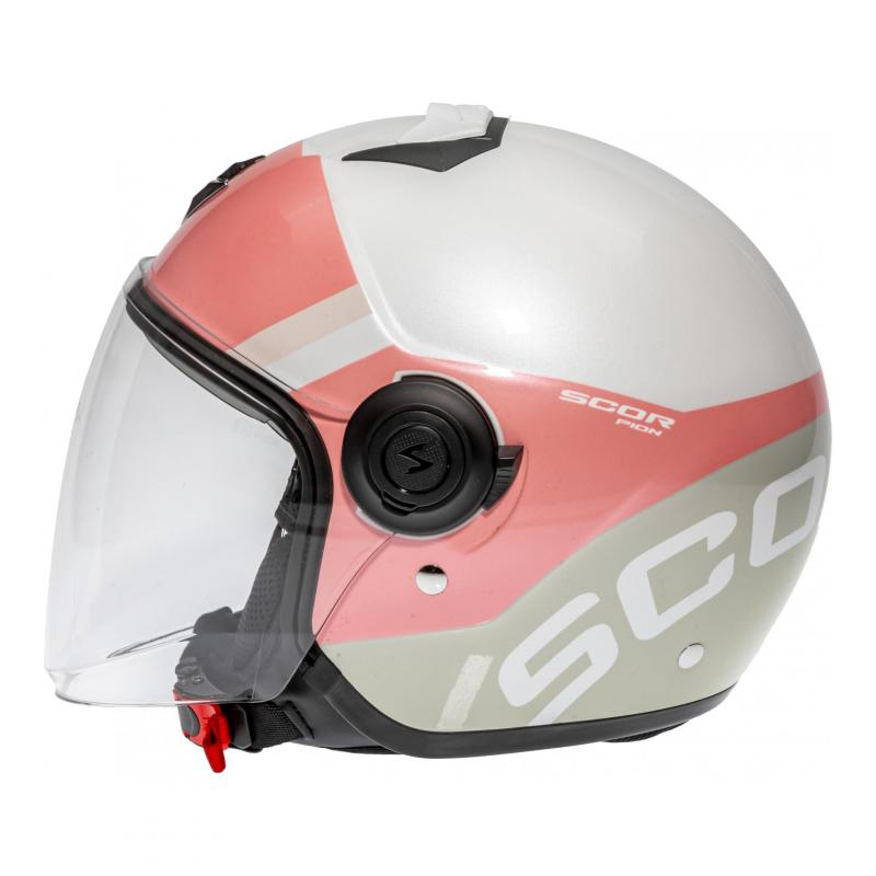 Casque jet Scorpion Exo-City Sympa rose/blanc/gris - 1